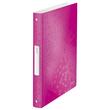 Ringbuch WOW A4 4Ringe Ringe-Ø25mm bis190Blatt pink metallic PP Leitz 4258-00-23 Produktbild