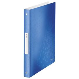 Ringbuch WOW A4 4Ringe Ringe-Ø25mm bis190Blatt blau metallic PP Leitz 4258-00-36 Produktbild