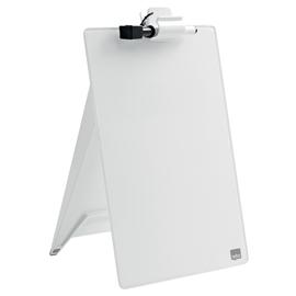 Glas Notizboard Diamond aufstellbar 21,6x29,7cm weiß Nobo 1905173 Produktbild