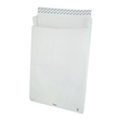 Faltentasche TYVEK ohne Fenster E4 305x406x50mm mit Haftklebung 55g weiß Spitzboden (PACK=100 STÜCK) Produktbild
