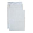 Faltentasche TYVEK ohne Fenster E4 305x406x50mm mit Haftklebung 55g weiß Spitzboden (PACK=100 STÜCK) Produktbild Additional View 1 S