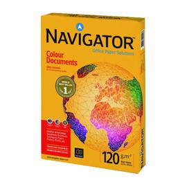 Kopierpapier Navigator Colour Dokuments A4 120g weiß holzfrei 82457A12S (PACK=250 BLATT) Produktbild