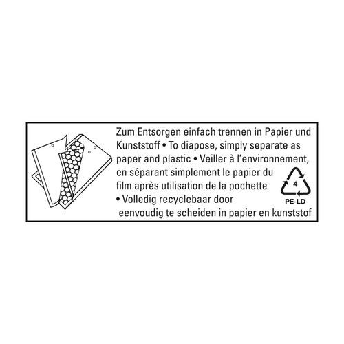 Versandtasche mit Luftpolster TYP B/00 weiß IM 110x215mm Soennecken 2281 (PACK=5 STÜCK) Produktbild Additional View 1 L