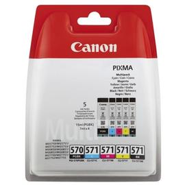 Tintenpatronen PGI-570/CLI-571 Multipack für Pixma MG 5700 1x 15ml schwarz + 4x 4,7ml cyan/magenta/yellow (PACK=4 STÜCK) Produktbild