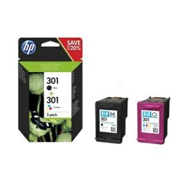 Tintenpatrone 301 Multipack für HP DeskJet 1000/3060 je 3ml schwarz/farbig HP N9J72AE (PACK=2 STÜCK) Produktbild