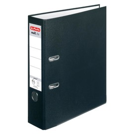 Ordner maX.file protect A4 80mm schwarz PP Herlitz 5480801 Produktbild