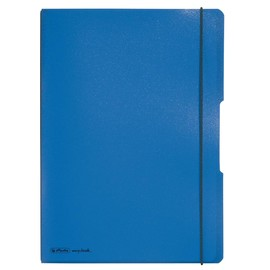 Notizheft flex A4 liniert+kariert blau 2x40 Blatt PP Herlitz 11361441 Produktbild