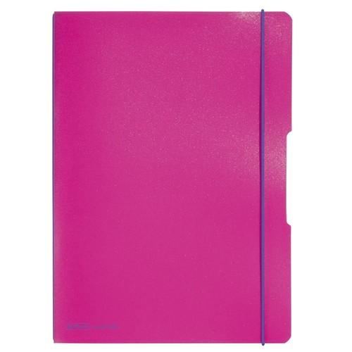 Notizheft flex A4 liniert+kariert pink 2x40 Blatt PP Herlitz 11361474 Produktbild