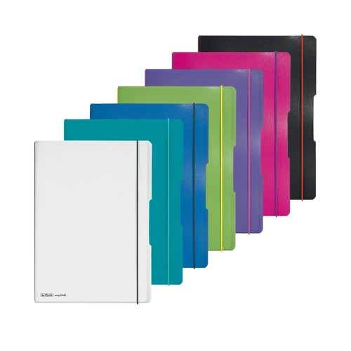Notizheft flex A4 liniert+kariert pink 2x40 Blatt PP Herlitz 11361474 Produktbild Additional View 5 L