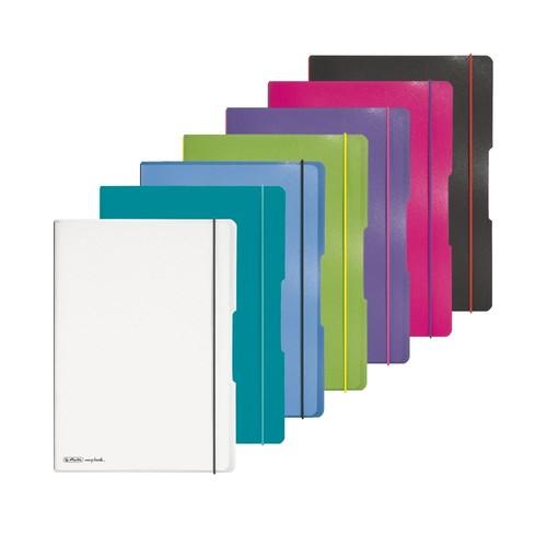 Notizheft flex A4 liniert+kariert pink 2x40 Blatt PP Herlitz 11361474 Produktbild Additional View 7 L
