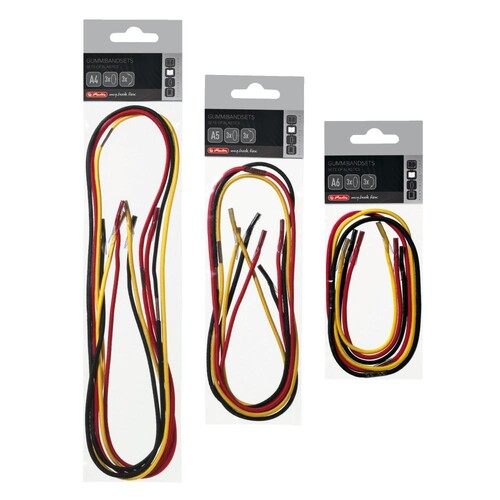 Gummibandset A6 schwarz, gelb, und rot Herlitz 11366267 Produktbild Additional View 1 L