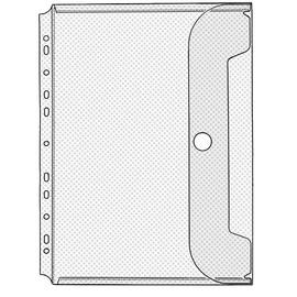 Dokumentenhüllen mit Klettverschluß Crystal A4 200µ Veloflex 5342100 Produktbild
