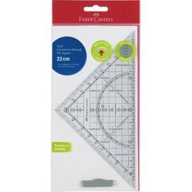 Geodreieck GRIP mit Griff groß 22cm transparent Faber Castell 171010 Produktbild