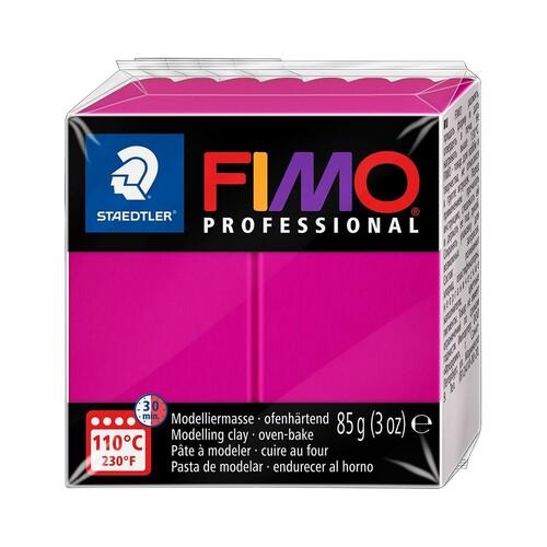 Modelliermasse FIMO Professional ofenhärtend 85g echt-magenta Staedtler 8004-210 Produktbild