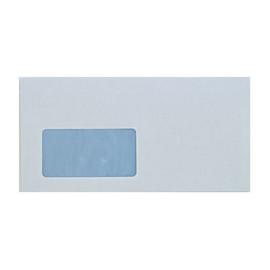 Briefumschlag SOPORSET mit Fenster DIN lang 110x220mm mit Haftklebung 80g weiß mit blauem Innendruck (PACK=1000 STÜCK) Produktbild