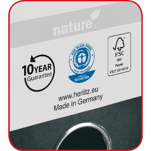 Ordner Max File Nature A4 50mm grau Herlitz 10841765 Produktbild Additional View 1 L