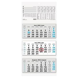 Dreimonatskalender 2020 32x70cm schwarz/blau Zettler 953-0015 Produktbild