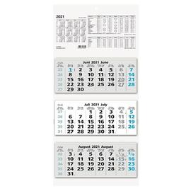 Dreimonatskalender 2021 32x70cm schwarz/blau Zettler 953-0015 Produktbild