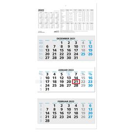 Dreimonatskalender 2022 32x70cm schwarz/blau Zettler 953-0015 Produktbild