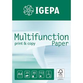Kopierpapier Igepa Multifunction Paper A4 80g weiß FSC 9297A80S (PACK=500 BLATT) Produktbild