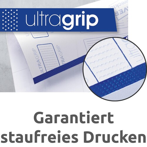 Etiketten Inkjet+Laser+Kopier 64,6x33,8mm auf A4 Bögen weiß Zweckform 3658-10 (PACK=240 STÜCK) Produktbild Back View L