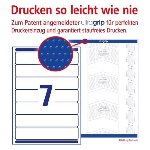 Rückenschilder zum Bedrucken 38x192mm kurz schmal auf A4 Bögen weiß wiederablösbar Zweckform L4760REV-10 (PACK=70 STÜCK) Produktbild Additional View 3 L