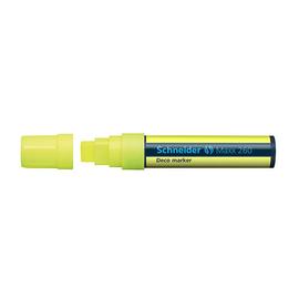 Kreidemarker Maxx 260 5+15mm Keilspitze Keilspitze abwischbar gelb Schneider 126005 Produktbild