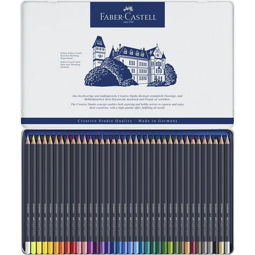Farbstifte Goldfaber Metalletui farbig sortiert Faber Castell 114736 (ETUI=36 STÜCK) Produktbild Additional View 1 L