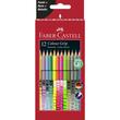 Farbstifte mit Noppen COLOUR GRIP dreikant Kartonetui sortiert Faber Castell 201569 (PACK=12 STÜCK) Produktbild