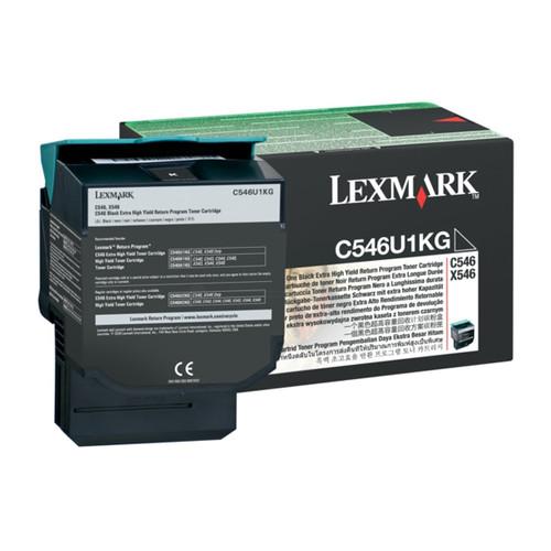 Toner für C546DTN/X546DDNT 8000Seiten schwarz Lexmark C546U1KG Produktbild Front View L