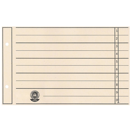 Trennblätter mit abschneidbaren Taben A5 quer 240x148mm chamois vollfarbig Karton BestStandard (PACK=100 STÜCK) Produktbild