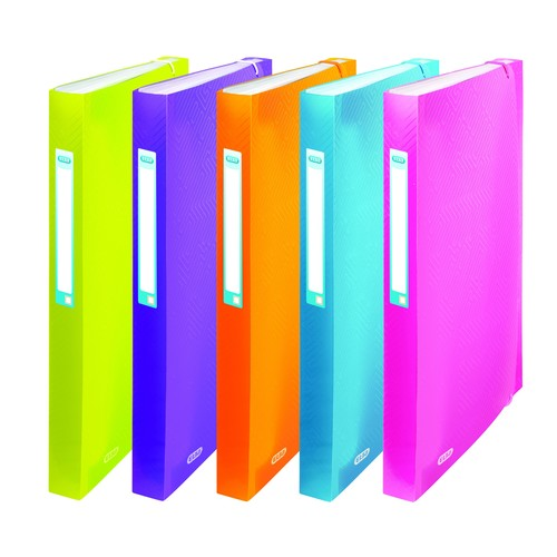Fächermappe Urban A4+ 12-teilig transluzent farbig sortiert PP Elba 400102003 Produktbild Front View L