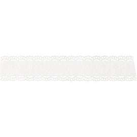 Papierspitze mit Textfeld 21mm x 2m weiß Heyda 20-4880077 Produktbild