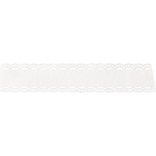Papierspitze mit Textfeld 21mm x 2m weiß Heyda 20-4880077 Produktbild Front View L