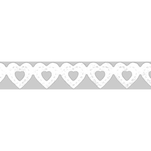 Papierspitzen Herzen 8mm x 2m weiß Heyda 20-4880083 Produktbild