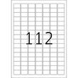 Etiketten Inkjet+Laser+Kopier 25,4x16,9mm auf A4 Bögen Movables weiß wiederablösbar Herma 4211 (PACK=2800 STÜCK) Produktbild Additional View 2 S