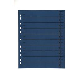 Trennblätter mit abschneidbaren Taben A4 240x300mm blau vollfarbig Karton BestStandard (PACK=100 STÜCK) Produktbild