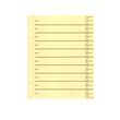 Trennblätter mit abschneidbaren Taben A4 240x300mm gelb vollfarbig Karton BestStandard (PACK=100 STÜCK) Produktbild