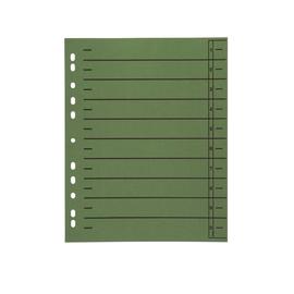 Trennblätter mit abschneidbaren Taben A4 240x300mm grün vollfarbig Karton BestStandard (PACK=100 STÜCK) Produktbild