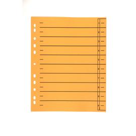 Trennblätter mit abschneidbaren Taben A4 240x300mm orange vollfarbig Karton BestStandard (PACK=100 STÜCK) Produktbild