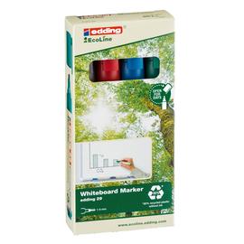 Whiteboardmarker EcoLine 29/4 Etui 1-5mm Keilspitze sortiert trocken abwischbar Edding 4-29-4 (SET=4 STÜCK) Produktbild