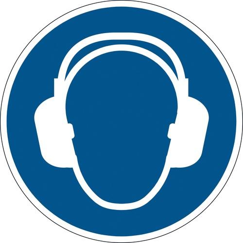 Sicherheitskennzeichen Gehörschutz benutzen M003 nach ISO 7010 Ø 43cm blau Durable 1729-06 Produktbild