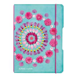Notizheft flex A5 kariert Flowers 40 Blatt PP Herlitz 50016426 Produktbild