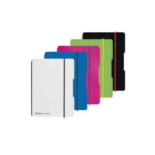 Notizheft flex A6 kariert pink 40 Blatt PP Herlitz 50016402 Produktbild Additional View 3 L