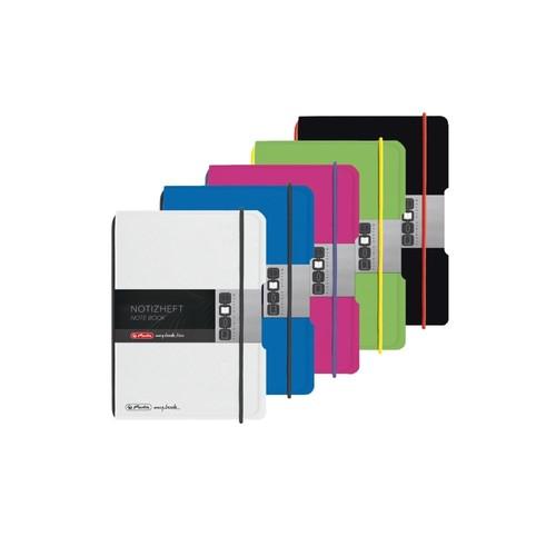 Notizheft flex A6 kariert pink 40 Blatt PP Herlitz 50016402 Produktbild Additional View 4 L