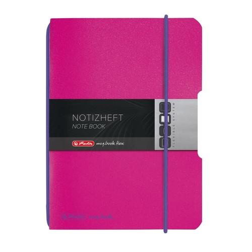 Notizheft flex A6 kariert pink 40 Blatt PP Herlitz 50016402 Produktbild Additional View 2 L