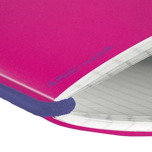 Notizheft flex A6 kariert pink 40 Blatt PP Herlitz 50016402 Produktbild Additional View 1 L