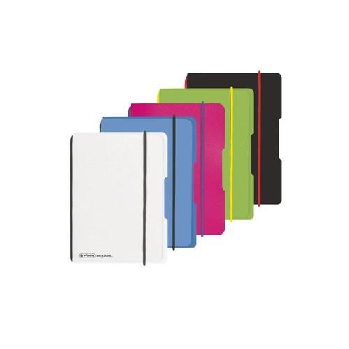 Notizheft flex A6 kariert pink 40 Blatt PP Herlitz 50016402 Produktbild Additional View 5 L
