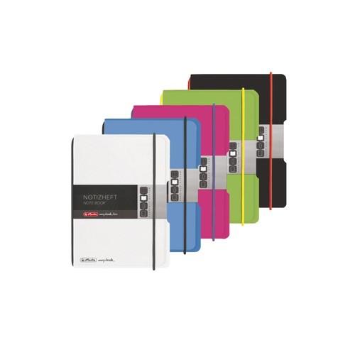 Notizheft flex A6 kariert pink 40 Blatt PP Herlitz 50016402 Produktbild Additional View 6 L