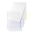 Prospekthülle oben + halbseitig rechts offen A4 überbreite 310x235/217mm transparent/blau PP Folder Sys 46 325 (PACK=100 STÜCK) Produktbild